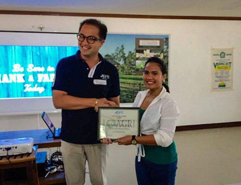 President of JCI Manila, Mr. Rami Villavicencio with Ms. Cherrie Atilano of Agrea